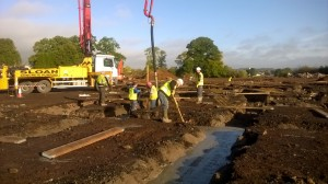 WP_20151006_001 Photo taken 06-10-2015shows concrete operatives placing concrete pour two section 2 KS 2 wing